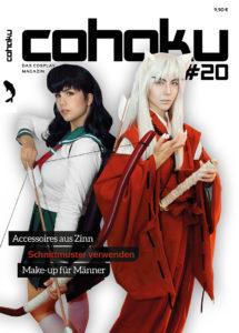 """Cohaku #20 Cover - Fotograf: Danny """"Frogshables"""" Seggelke Models: Ilirea und Judai als Kagome Higurashi und InuYasha (InuYasha)"""